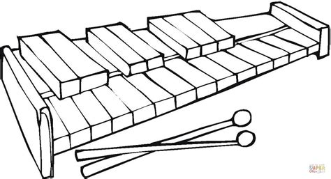 free coloring pages of xylophone xylophone coloring online super coloring