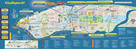 map of new york city manhattan large detailed city sights map of manhattan new york city