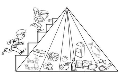 food pyramid coloring page kindergarten pyramid coloring book food pages for preschool best page