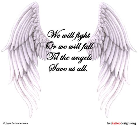 Angel Wings Quote Tattoo | angel wing tattoos with quotes quotesgram