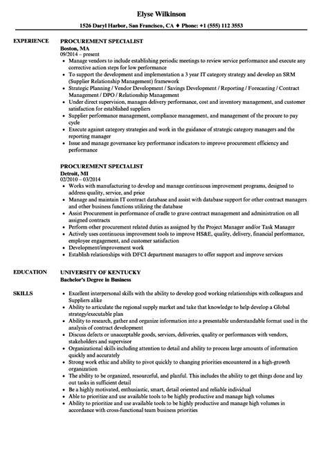 sample resume for procurementficer dreaded templates lovely manager