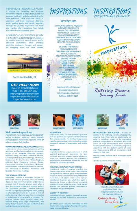 What Is Residential Detox by Inspirations For Youth And Familie Rehab Brochure