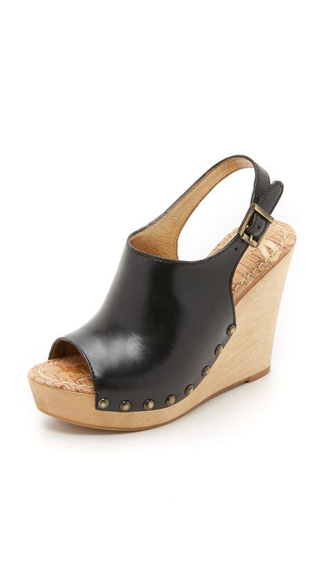 Sandal Wedgest Aj 07 lyst sam edelman camilla wedge sandals in black