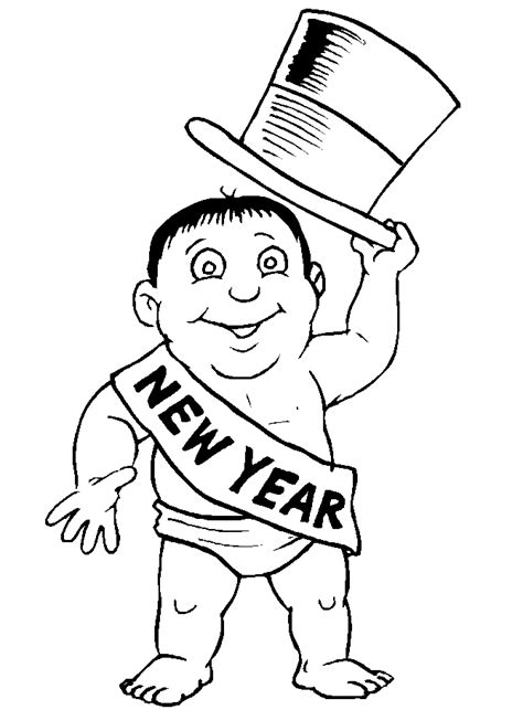 new year s day coloring pages