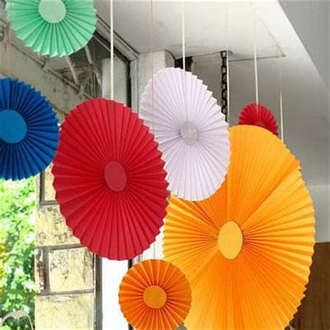 Diy Paper Decorations by Pleated Paper Decorations Diy Decorations Tip Junkie