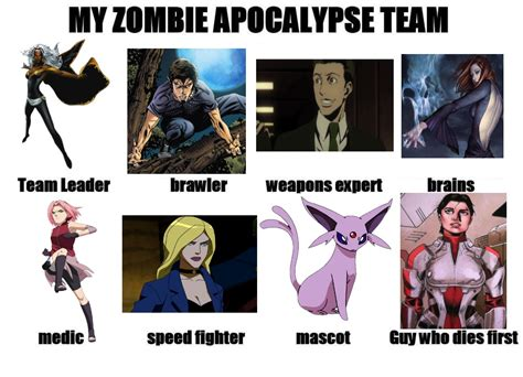 My Zombie Apocalypse Team Meme Creator - my zombie apocalypse team by crimsonfox1385 on deviantart