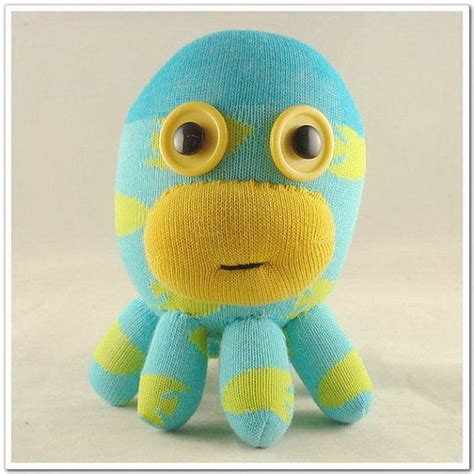 free shipping handmade sock octopus stuffed by