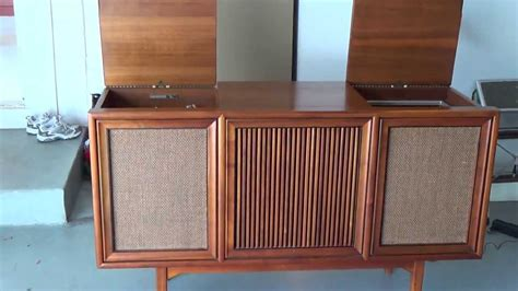 vintage stereo cabinet for sale 1964 motorola stereo console youtube