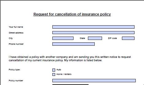 Form Letter To Cancel Insurance Policy How To Switch Car Insurance Companies