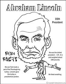 abraham lincoln coloring page abraham lincoln coloring page