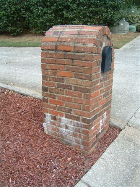 Brick Mailbox With Planter by Milford Brick Mailbox Standard Marietta 30008