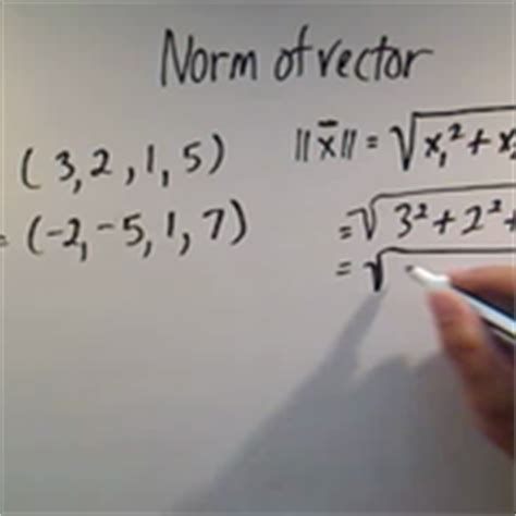 vector norm tutorial calculating the norm of a vector tutorials quizzes and
