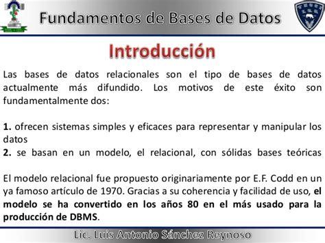 el tutor actualmente usado para este tipo de lesiones es el tutor en unidad 3 fundamentos de bases de datos