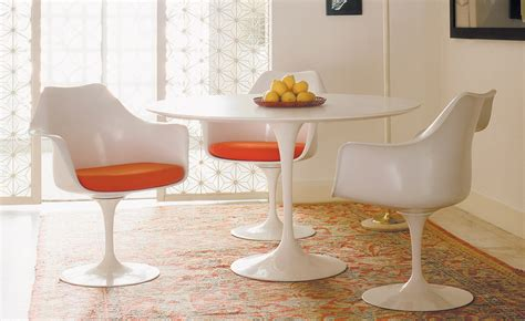 Saarinen Dining Table White Laminate hivemodern.com
