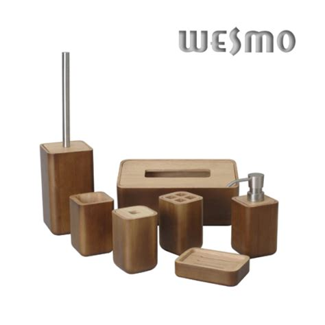 wood bathroom set bathroom accessories wesmo