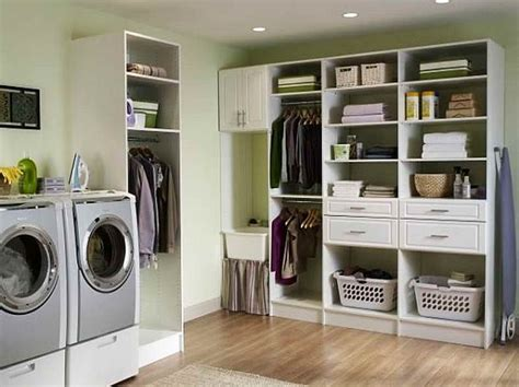 laundry laundry room storage ideas with wooden flooring