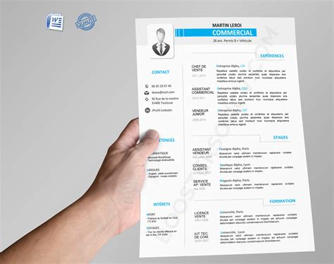 Modele Cv Commercial Word by Cv Word Commercial Boostersoncv