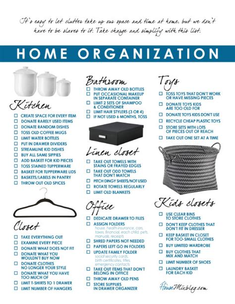 organize my house checklist how to organize your entire house house mix