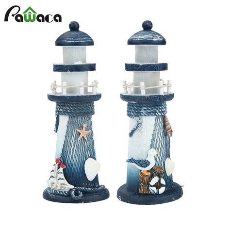 mediterranean style creative big size wooden lighthouse mediterranean style lighthouse figurines wood ornaments