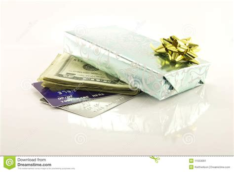 Visa Card Gift - gift with money and credit cards stock image image 11553091