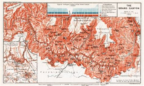 america map grand map of the grand of the colorado in 1909 buy