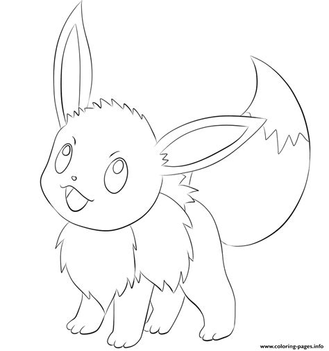 eevee pokemon coloring pages printable