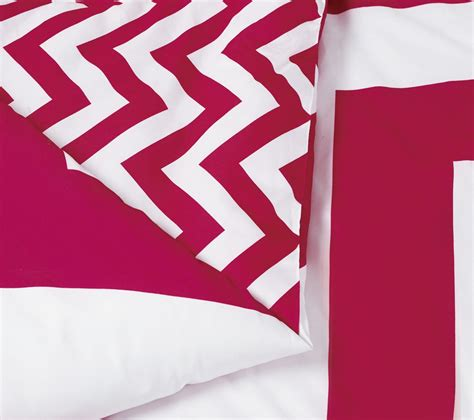 chevron bed in a bag 7 piece chevron pink white reversible down alternative bed