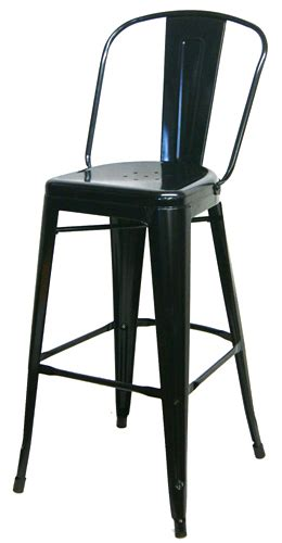 black metal high back tolix bar stool tablebasedepot