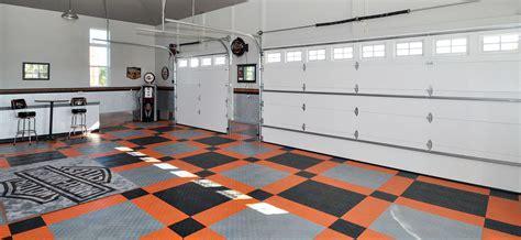 Harley Davidson garage flooring