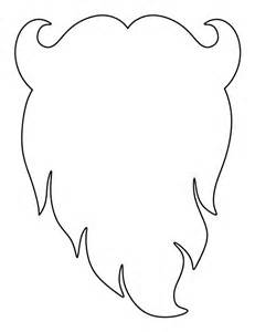 santa claus beard pattern use the printable outline for