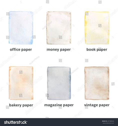 What Type Of Paper Is Used To Make Money - different types paper made watercolor technique stock
