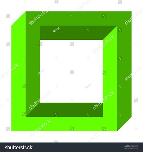 sq stock optical illusion twisted square stock photo 54441277