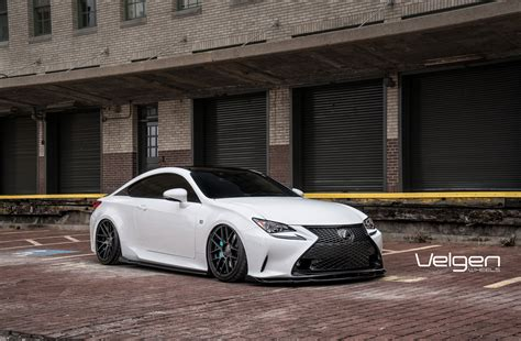 bagged lexus rc bagged lexus rc350 f sport velgen wheels