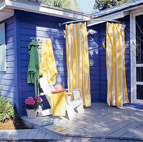 diy outdoor curtain rod three types of outdoors shower curtains