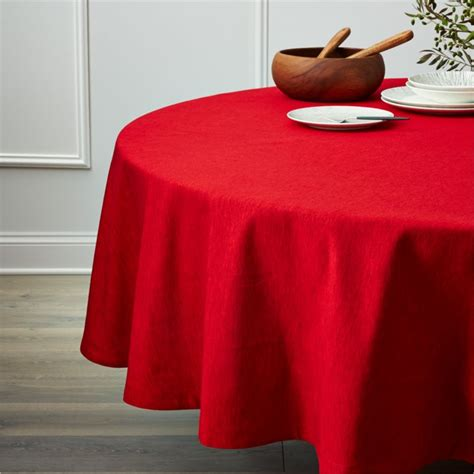 linden ruby red 90quot round tablecloth reviews crate and