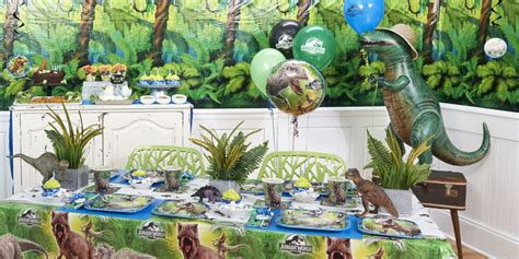 themed table ls jurassic birthday express