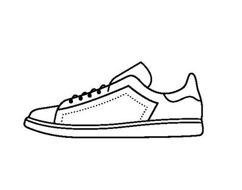 Imagenes De Unas Zapatillas Para Dibujar | dibujo de zapatillas deportivas para colorear dibujos net