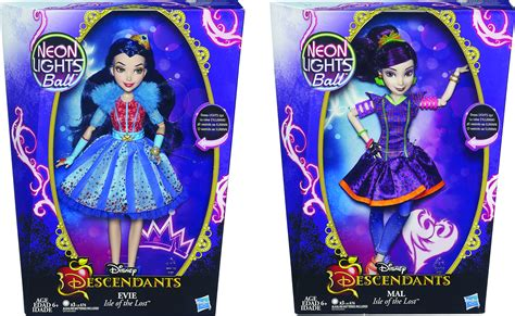 disney descendants neon lights dolls oct162650 disney descendants neon feature doll asst