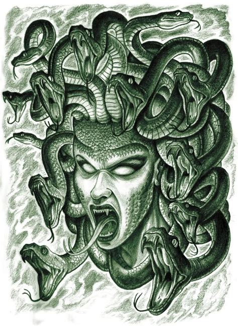 medusa face tattoo www pixshark com images galleries