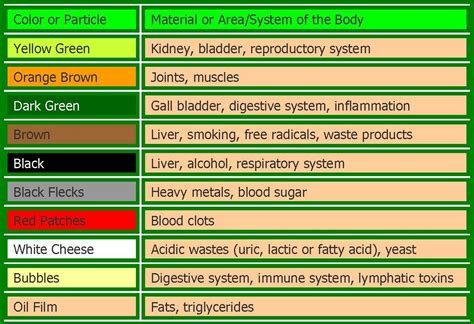 Detox Urine Color the gallery for gt urine color chart meaning