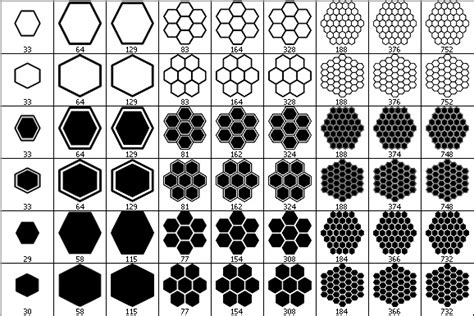shape pattern brushes hexagons brush set by wuestenbrand on deviantart