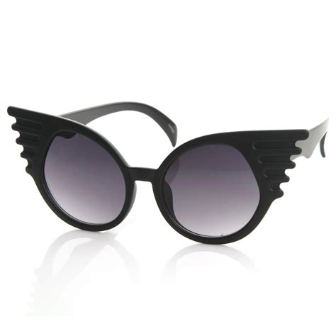 unique glasses trendy unique fashion angel wings round sunglasses 8581