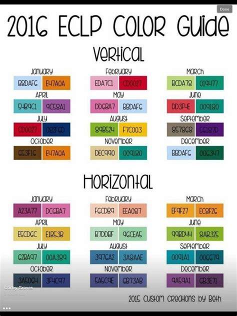 monthly colors hex codes erin condren code for erin