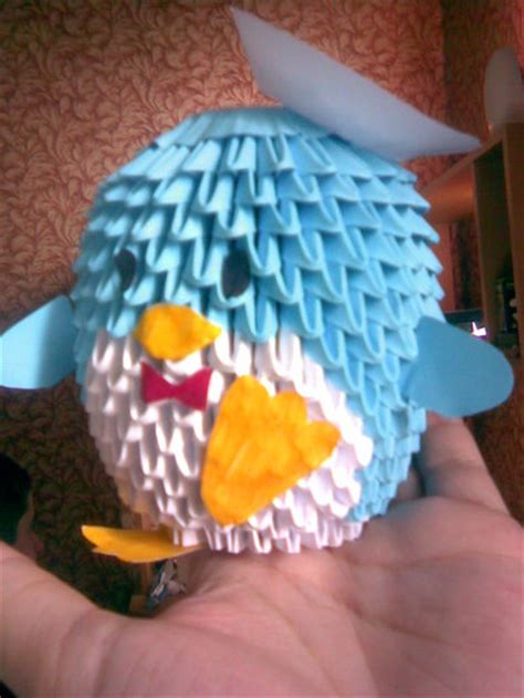 3d Penguin Origami - 3d origami penguin 2 by shinigamito on deviantart