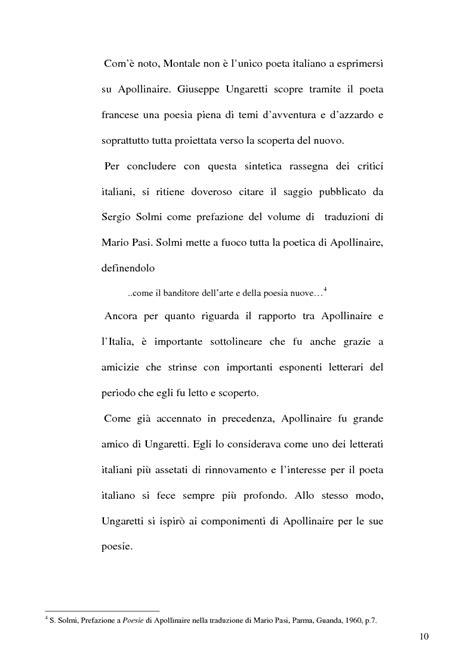 Senior Project Exles Research Papers by Giuseppe Ungaretti Scopre Tramite Il Poeta Francese Una Poesia Piena Di Temi D Avventura E D