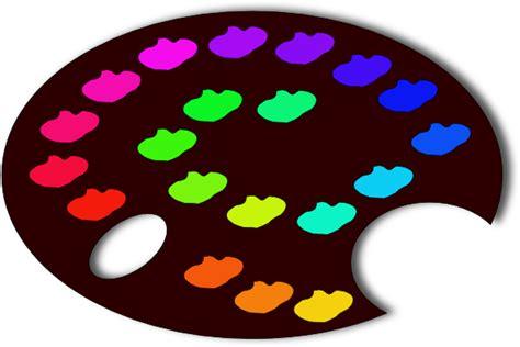paint colors clipart paint palette clip at clker vector clip