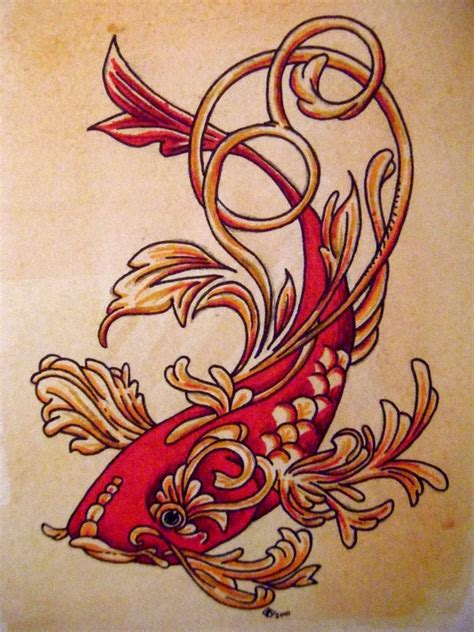 koi fish pictures tattoo designs
