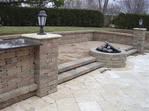 Large Paver Patio by Paver Patios Patio Designs Dayton Landscaping