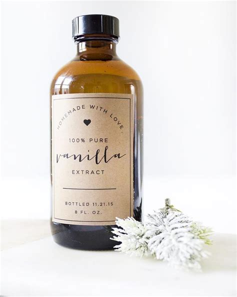 printable extract labels homemade vanilla free printable labels vanilla extract