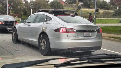 image tesla model s all wheel drive prototype testing in
